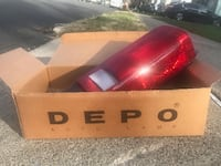 CH2801103 Right New Tail Light Lamp Dodge Caravan/Town and Country '87-'90 Passenger Side RH Hand Clifton
