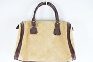 Victoria's Secret Beige Faux Suede Purse