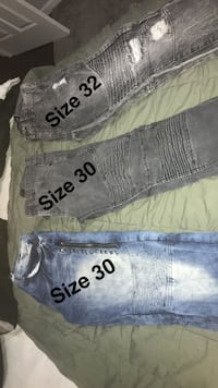 two blue and gray denim jeans Griffith, 46319