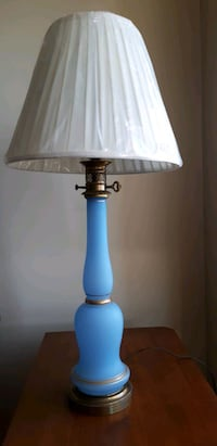 Baby Blue Glass Table Lamp  Fort Lee, 07024