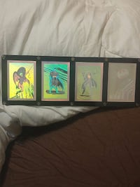 black framed batman collectors cards