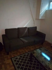 black leather 3-seat sofa Riverdale Park, 20737