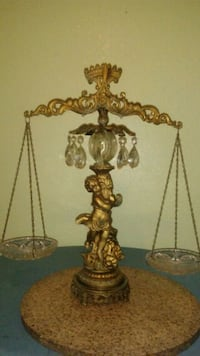 two brass-colored table lamps Laredo, 78043