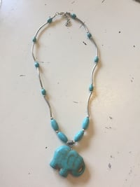 blue and brown beaded necklace Frederick, 21703