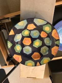 Large serving plate. Hand made by artist. Toronto, M6A 1V9