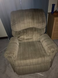 brown and gray fabric sofa chair North Las Vegas, 89031