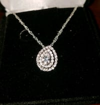 Pear Shaped Sterling Silver White Sapphire Double  Lewisville, 75067