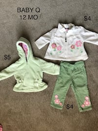 BABY Q -12 MONTHS -JACKET AND CLOTHING - INDIVIDUALLY PRICED  Las Vegas, 89141
