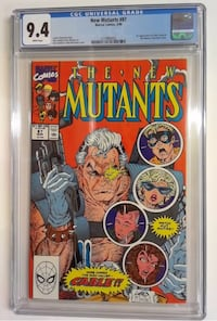 New Mutants #87 cgc 9.4 Yonkers, 10701