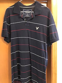 American Eagle Navy Polo with Horizontal Stripes Courtice, L1E 1M9