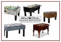 Foos ball Table (tables) New - Many Models starting at $495 Fullerton
