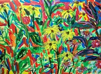 yellow daisy flowers painting