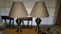 two brown-and-white table lamps Norwalk, 90650
