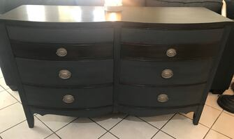 Dixie Bow Front Dresser / Credenza / Sideboard 1940's