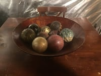 Vintage table decor with balls Laurel, 20723