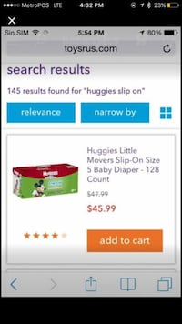 Huggies Little movers Slip-on Size 5 baby Diaper Springfield, 22150
