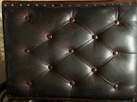 Solid Wood leather top Footrest/ottomans