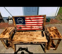 brown wooden table with chairs Flowery Branch, 30542
