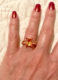 18k Rose Gold Filled and Morganite Ring Sz 7 or Sz 8 Greenville, 29617