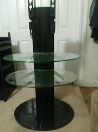 black and green glass top TV stand Halethorpe, 21227