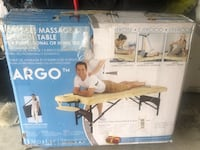 Argo massage table. Brand new never used in box with carrying case Vaughan, L4J 8G5