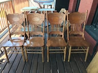 four brown wooden windsor chairs Vancouver, V5V 3M6