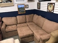 Brown Sectional 6 Compartments