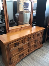Wooden dresser and mirror with 2 night stand  Garfield, 07026
