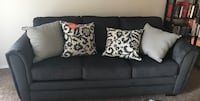 Like new charcoal 3 seat couch