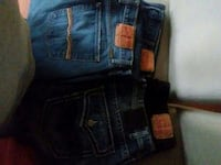 blue denim Levi's jeans