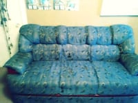 blue and white floral fabric 3-seat sofa Houston, 77051