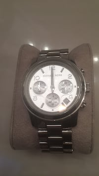 round silver-colored chronograph watch with link bracelet Adelphi, 20783