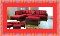 Red sectional free ottoman and delivery Prince George's County
