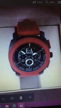 red and black chronograph watch screenshot