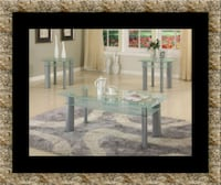 Glass white coffee table Laurel