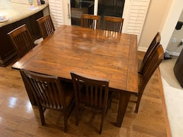 Urban Barn Square Dining Table and Chair's