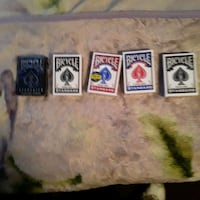 5 packs bicycle playing cards