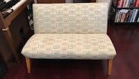 White and green sofa, love seat , couch Mid Century Los Angeles, 90028