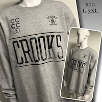 2XL Crooks & Castles knit crewneck available  Winnipeg, R2M 2T7