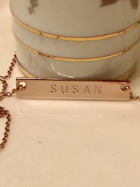ROSE GOLD PLATED NECKLACE  6 mi