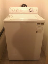 white top-load washing machine