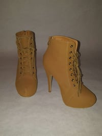 Size 8 tan booties  Surrey