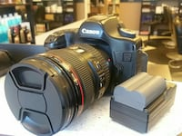 Canon EOS 5D with black battery charger