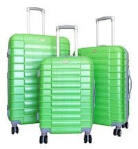 New Bright Green 3 piece Luggage Set