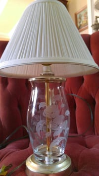 Vintage Lamp with Pleated Shade