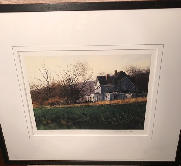 Limited edition print of a farm house/landscape
