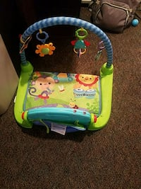 baby's green and blue bouncer 1022 mi