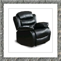 Black recliner chair free delivery Ashburn, 20147