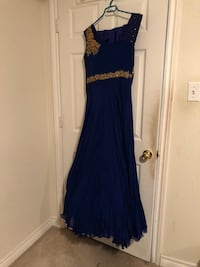 Blue gown/ Indian suit