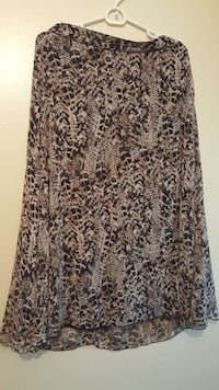 black, brown and beige maxi Size M